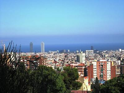 Barcelona Panoramic View IIi From Park Guell In Spain Art Print by John Shiron