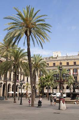Photograph - Barcelona Placa Reial by Matthias Hauser