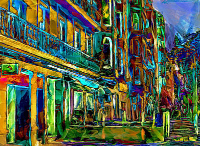 Barcelona Streets Two Art Print by Yury Malkov
