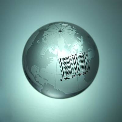 Wto Photograph - Barcoded Earth by Adam Gault