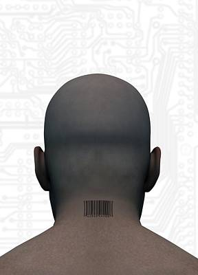 Barcoded Man, Artwork Art Print by Victor Habbick Visions