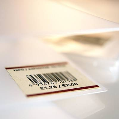 Sterling Photograph - Barcoded Price Label by Adam Gault