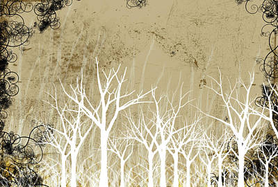 Bare Trees Digital Art - Bare Winter Season Trees by Photos.com