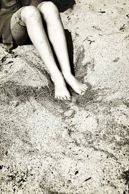 Barefoot In The Sand Art Print