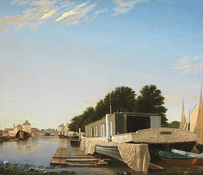 Mooring Painting - Barges At A Mooring by Unknown