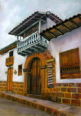 Barichara Pastel - Barichara Colombia by Leonor Thornton