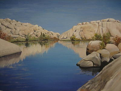 Painting - Barker Dam by Barbara Prestridge