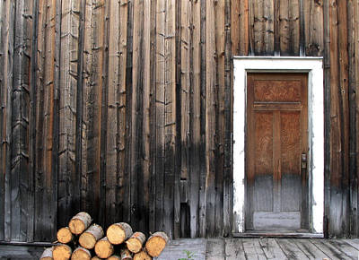Barkerville Back Porch Art Print by Calvin Wray
