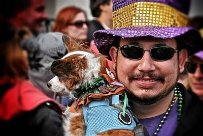 Print featuring the photograph Barkus Mardi Gras Parade by Jim Albritton