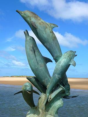 Photograph - Barmouth Dolphins by Ed Lukas
