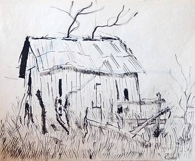 Drawing - Barn 1 by Rod Ismay