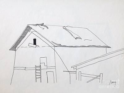 Drawing - Barn 2 by Rod Ismay