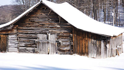 Barns In Snow Photograph - Barn Along Coon Creek Road by Thomas R Fletcher