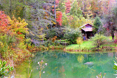 Photograph - Barn And Pond In The Fall by Duane McCullough