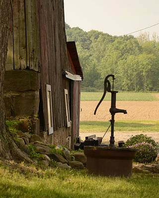 Photograph - Barn And Pump by Ann Bridges