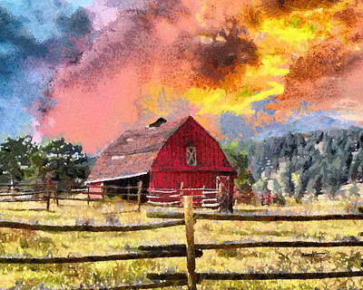 Barn And Sky Art Print by Anthony Caruso