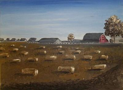 Barn Art Print by Angela Stout
