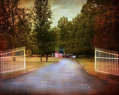 Photograph - Barn Behind The Gate by Jai Johnson