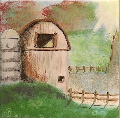 Barn Art Print by Gail Schmiedlin