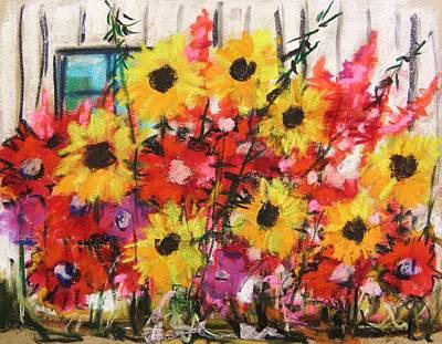 Barn Garden Art Print by John Williams