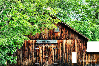 Barn Art Print by HD Connelly