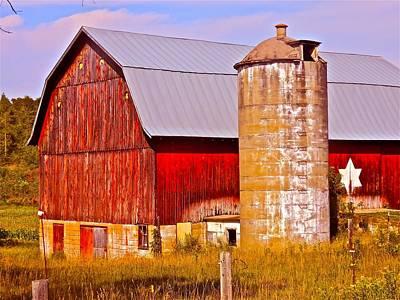 Barn And Silo Photograph - Barn In America by Randy Rosenberger