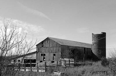 Barn In Black And White Art Print by Brittany Roth