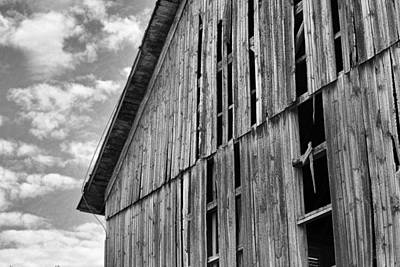Photograph - Barn In Black And White by John Crothers