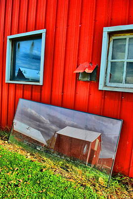 Photograph - Barn In Reflection by Emily Stauring