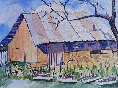 Barn Near Payson Art Print