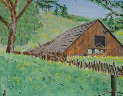 Barn On Hiway 20 Print by Mick Anderson