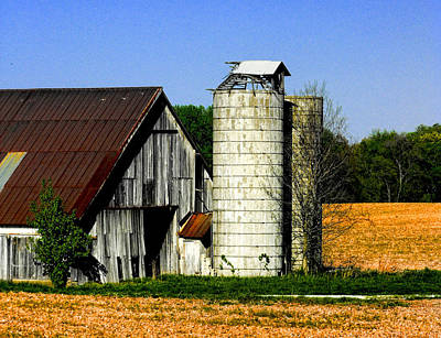 Photograph - Barn Out Back by Kristie  Bonnewell