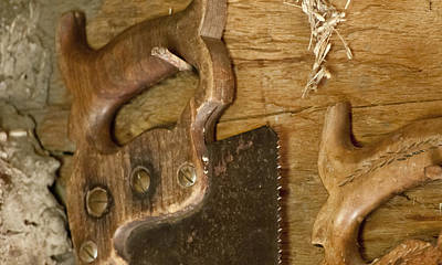 Photograph - Barn Saws by Wilma  Birdwell