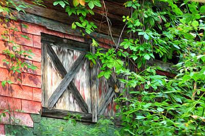 Barn Window Art Print by Bill Cannon