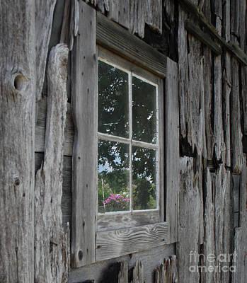 Photograph - Barn Window Reflection by Grace Grogan