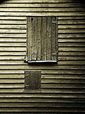 Wall Art - Photograph - Barn Windows by Mickey Murphy