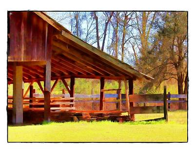 Photograph - Barn With Fence by Judi Bagwell