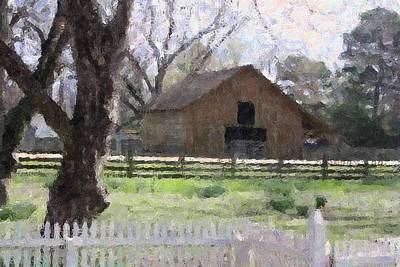 Photograph - Barn With Picket Fence by Donna G Smith
