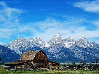 Photograph - Barn With The Grand Teton View by Ken Smith