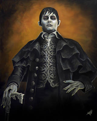 Johnny Depp Painting - Barnabus Collins - Johnny Depp by Tom Carlton