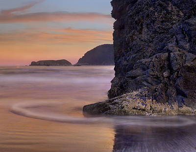 Barnacle Covered Seastack At Sunset Art Print by Tim Fitzharris