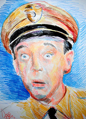 Fife Drawing - Barney Fife  by Jon Baldwin  Art