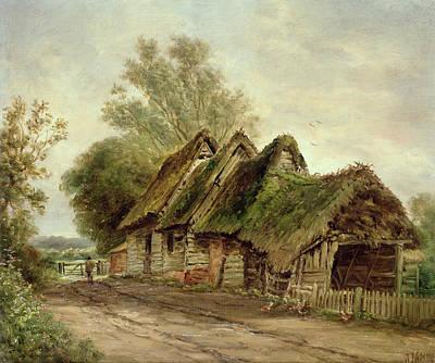 Broken Fence Painting - Barns At Flatford by John Moore of Ipswich
