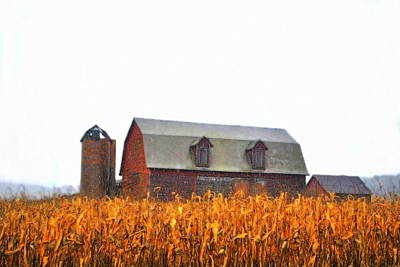 Farm Scenes Photograph - Barns First by Emily Stauring