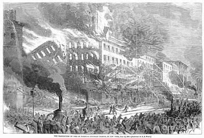 Barnums Museum Fire, 1865 Art Print by Granger