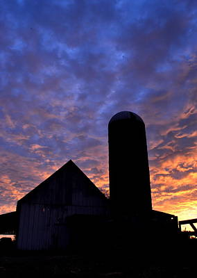 Photograph - Barnyard Sunrise I by JD Grimes