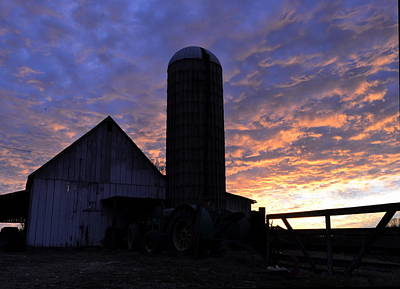 Photograph - Barnyard Sunrise II by JD Grimes