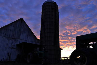 Photograph - Barnyard Sunrise IIi by JD Grimes