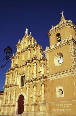 Photograph - Baroque Church Facade Leon Nicaragua by John  Mitchell