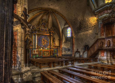 Baroque Church In Savoire France 2 Art Print by Clare Bambers